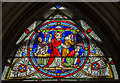 SK9771 : Stained glass window, Lincoln Cathedral by Julian P Guffogg