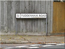 TM1645 : Tuddenham Road sign by Adrian Cable