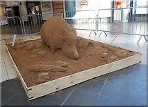 SE1632 : Sand Sculpture - Bradford Interchange Concourse by Betty Longbottom