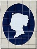 TQ2879 : Victoria tube station, Victoria Line, ceramic tiles - detail by Mike Quinn