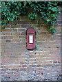 SJ5305 : Georgian postbox, Eaton Mascott by Richard Law