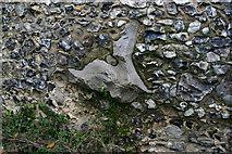 TQ6668 : St Mary Magdalene, Cobham - sarsen set into south wall by David Kemp