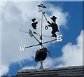 SP6459 : Weather vane on top of a barn by Mat Fascione