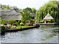 TG3117 : Thatched Housing on the River Bure at Wroxham by David Dixon