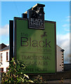 NZ1720 : Sign for the Black Horse, Ingleton by JThomas