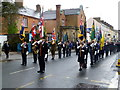 H4572 : Standard bearers, Remembrance Sunday, Omagh by Kenneth  Allen