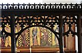 TM1072 : Thornham Parva: St. Mary's Church: The partly restored early c15th oak screen by Michael Garlick