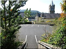 J3652 : Steps linking the middle and upper car parks at St Patrick's Catholic Church by Eric Jones