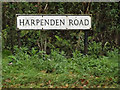 TL1311 : Harpenden Road sign by Adrian Cable