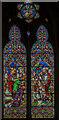 SK9450 : Stained glass window, St Nicholas' church, Fulbeck by Julian P Guffogg