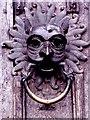 NZ2742 : Durham Cathedral door knocker (1965) by Stanley Howe