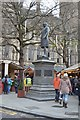 SJ8398 : Frasers Statue, Albert Square by N Chadwick