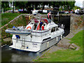 SO8170 : Wide lock into Stourport Basin, Worcestershire by Roger  Kidd