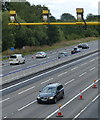 SP6262 : Average speed cameras on the M1 Motorway by Mat Fascione
