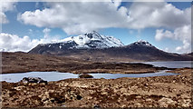 NH0168 : Slioch from the path by Loch an Sgeireach by Gary Dickson