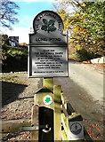 SO4494 : National Trust sign, Long Mynd, Church Stretton by Jaggery