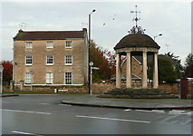 SK5993 : Darfield House and the Market Cross, Tickhill by Humphrey Bolton