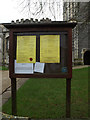 TM0533 : St.Mary's Church Notice Board by Adrian Cable