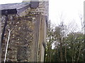 SN0904 : East Williamston - St Elidyr's Church Tower with steps half way up by welshbabe