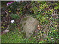 SN0904 : East Williamston - St Elidyr's Church - broken gravestones in corner by welshbabe