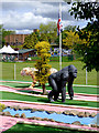 SO8071 : Crazy golf course at Stourport, Worcestershire by Roger  Kidd