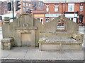 """SD8901 : """"Outside Inn"""" sculpture at Failsworth by David Hillas"""