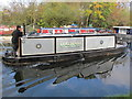TQ1280 : Malham narrowboat and its distorted reflection by David Hawgood