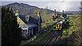 NH7085 : South bound 158705 passing the site of Edderton Station and Balblair Distillery by Peter Moore
