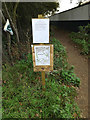 TM2446 : Temporary Footpath Closure Notice signs by Adrian Cable