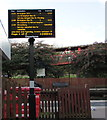 SJ7009 : Departures display board at Telford Central railway station by Jaggery