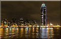 TQ3077 : St George's Wharf and Tower at night by David P Howard