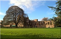 SK6464 : Remains of Rufford Abbey in Rufford Country Park by Chris Morgan