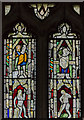 SK6754 : Medieval stained glass, St Michael's church, Halam by Julian P Guffogg