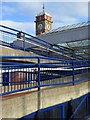 NZ3571 : Clock tower, Whitley Bay Railway Station by Andrew Curtis