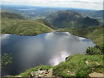 NY2807 : Looking down on Stickle Tarn from Jack's Rake by Peter S