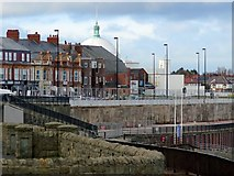 NZ3572 : Spanish City dome above Whitley Bay Promenade by Andrew Curtis