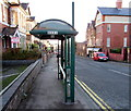 ST3087 : You shouldn't need to wait long for a bus here, Stow Hill, Newport by Jaggery