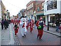 TQ7468 : Santa Fun Run, High Street, Rochester by Chris Whippet