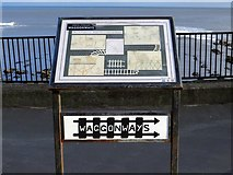 NZ3671 : Waggonways Interpretation Board, Cullercoats by Andrew Curtis