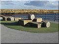 NZ5333 : Climbing blocks on the Headland Promenade by Oliver Dixon