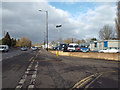 SP3477 : Shortley Road meets the London Road, Whitley, Coventry by Robin Stott