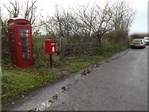 TM1678 : Telephone Box & Horseshoes Postbox by Geographer