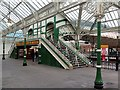 NZ3669 : West end of footbridge, Tynemouth Metro Station by Andrew Curtis