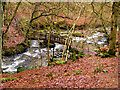 NY3804 : Footbridge over Stock Ghyll by David Dixon