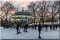 TQ2880 : Ice Skating, Winter Wonderland, Hyde Park, London by Christine Matthews