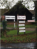 TM2374 : Street Farm Business Units signs by Adrian Cable