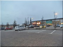 SO9198 : Dusk in a Retail Park by Gordon Griffiths
