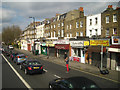 TQ3277 : Shops, Sunday lunchtime, Camberwell Road, London by Robin Stott