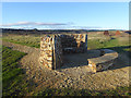 NZ4442 : Bench and windbreak on the England Coast Path at Horden by Oliver Dixon