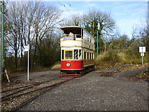 SK3455 : Crich Tramway Museum, Glory Mine Terminus by Dr Neil Clifton